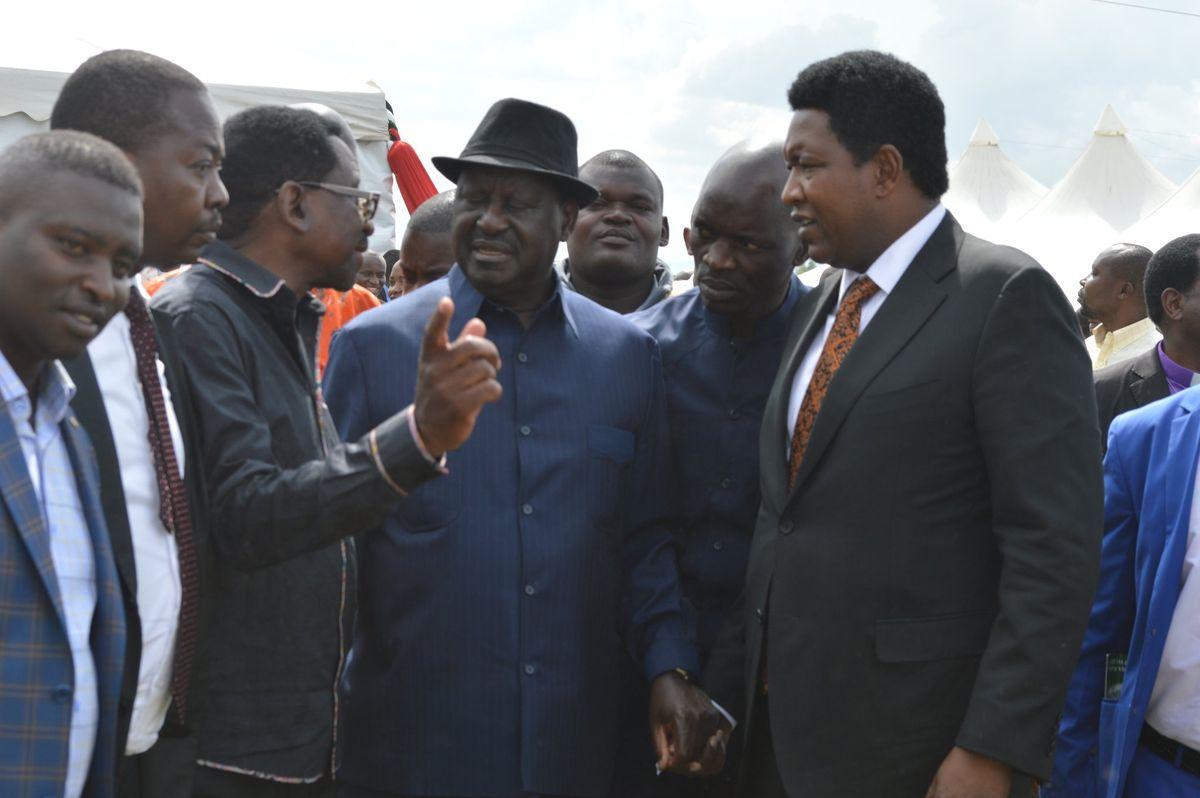 Ledama Ole Kina with Raila Odinga and James Orengo in the past