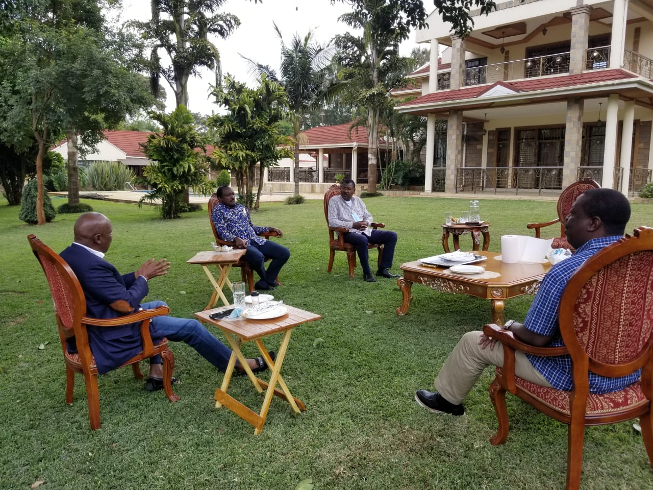 Gideon Moi Lectures Kalonzo, Mudavadi And Wetangula In A Meeting