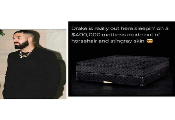 Drake's Mattress Made From Horsehair Costs A Whopping $400,000