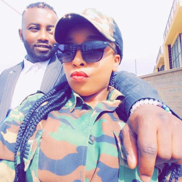 Saumu Mbuvi with her baby daddy Anwar Loitiptip during good times